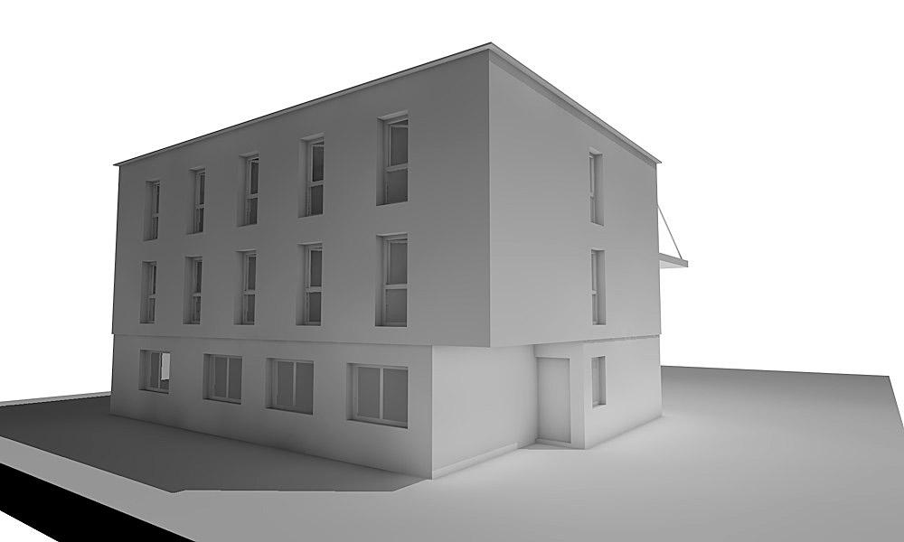 Bürogebäude mit Mitarbeiterwohnhaus
